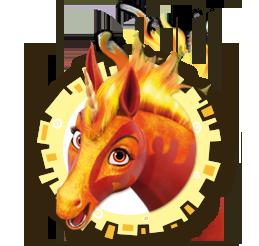Feuer-Einhorn