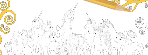 The Unicorns Mia And Me Malvorlage Teaser Bild1